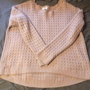 Women's Old Navy Mauve Colored Knit Sweater Sz XL